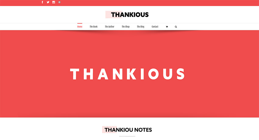 Página web thankious