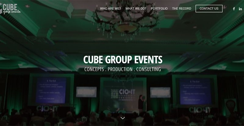 Cube Group Events Edwebstudio
